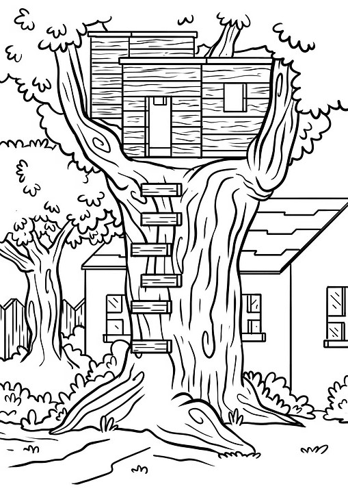 בית על העץ להדפסה