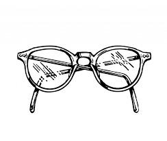 ציור של משקפיים להדפסה