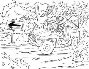 דף צביעה אבא בג'ונגל