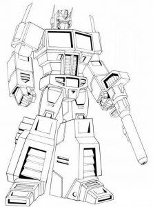 דף צביעה רובוטריקים אופטימוס פריים