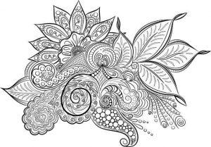 דף צביעה מנדלה פרחים מדהימה