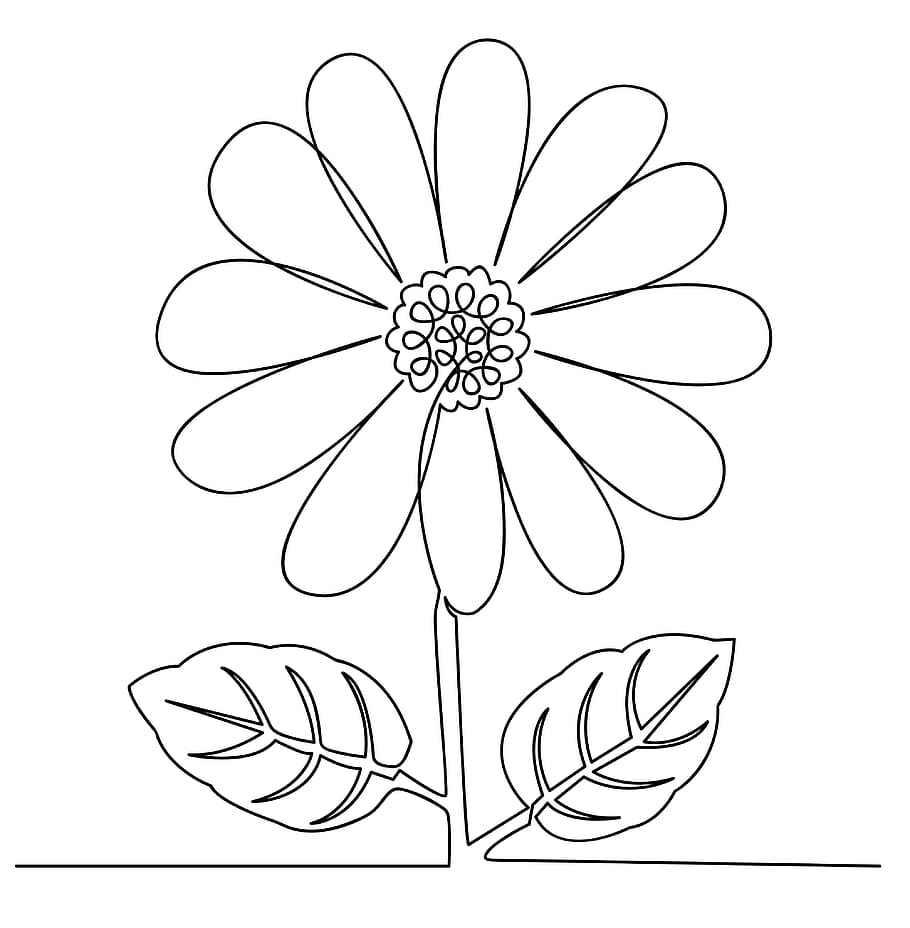 דף צביעה פרח באדמה