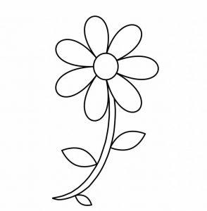 דף צבעיה פרח קטן