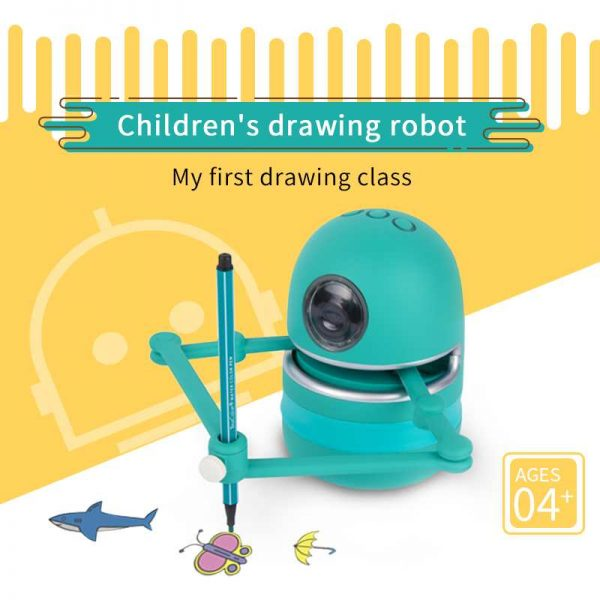 רובוט המצייר דפי צביעה