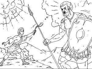 משחק צביעה דוד נגד גוליית