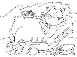 משחק צביעה חתול שמנמן