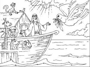 משחק צביעה תיבת נוח