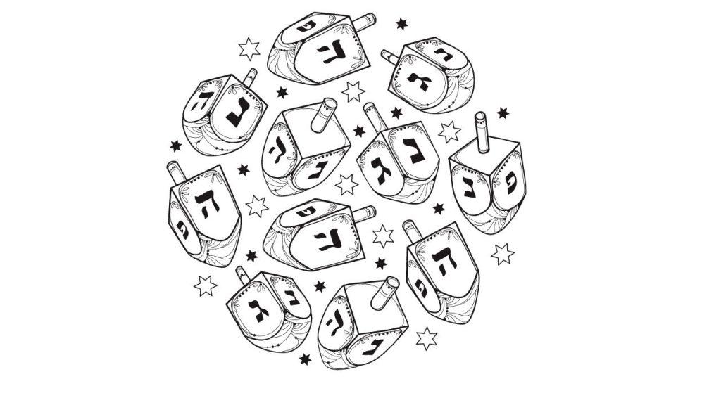 דף צביעה מעגל סביבונים