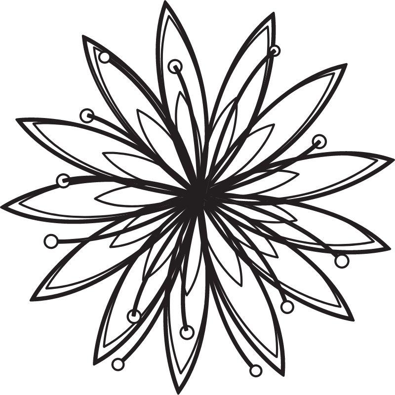 דף צביעה פרח פורח 2