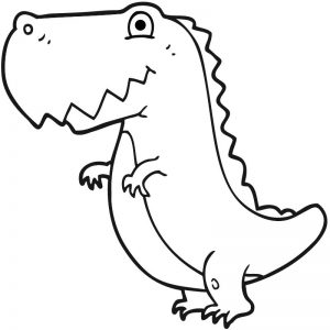 דף צביעה דינוזאור 9
