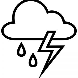 דף צביעה מזג אוויר חורפי