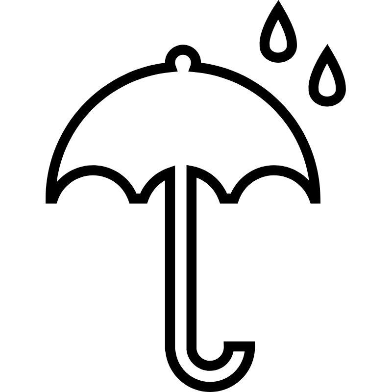 דף צביעה מטריה וגשם
