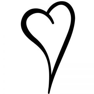 דף צביעה לב 2