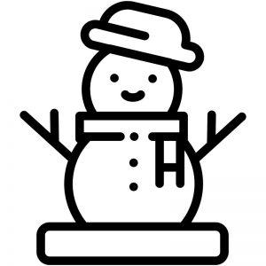 דף צביעה איש שלג
