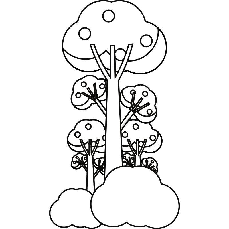 דף צביעה עץ 1