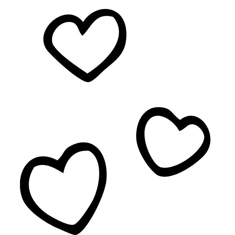 דף צביעה שלושה לבבות 2