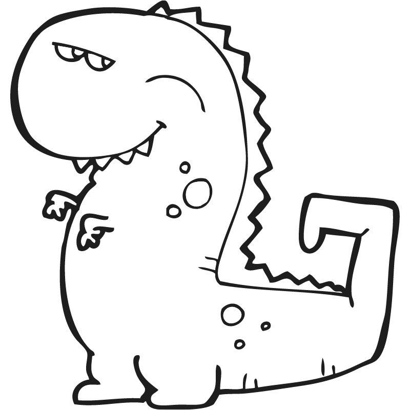 דף צביעה דינוזאור 3