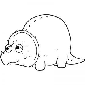 דף צביעה דינוזאור