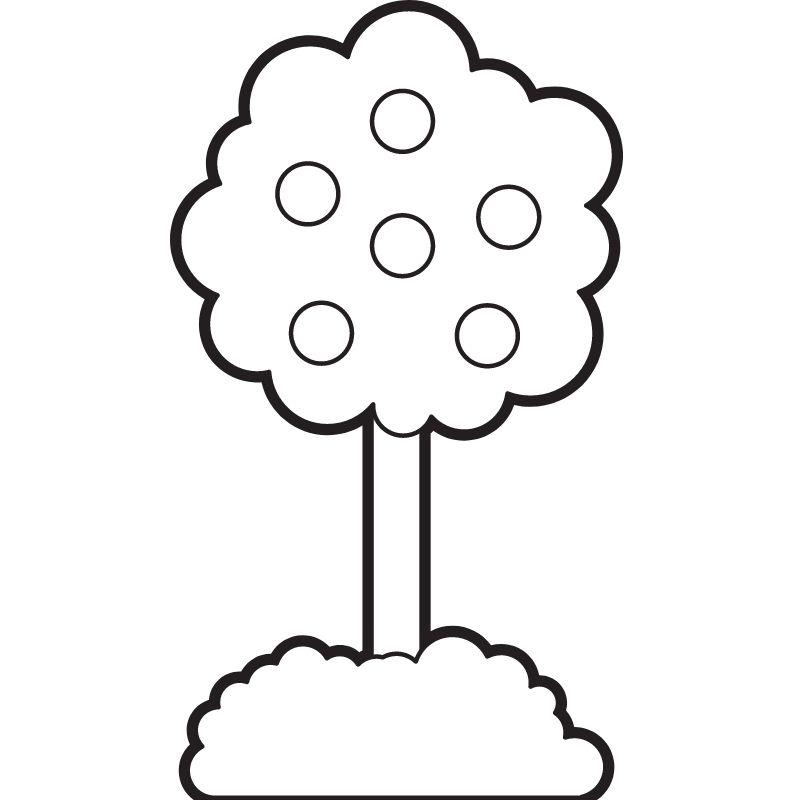 דף צביעה עץ 3