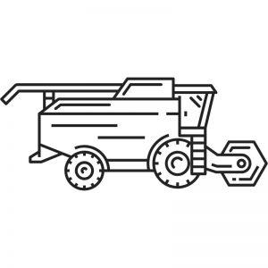 דף צביעה מכונה חקלאית