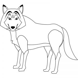 דף צביעה זאב 2