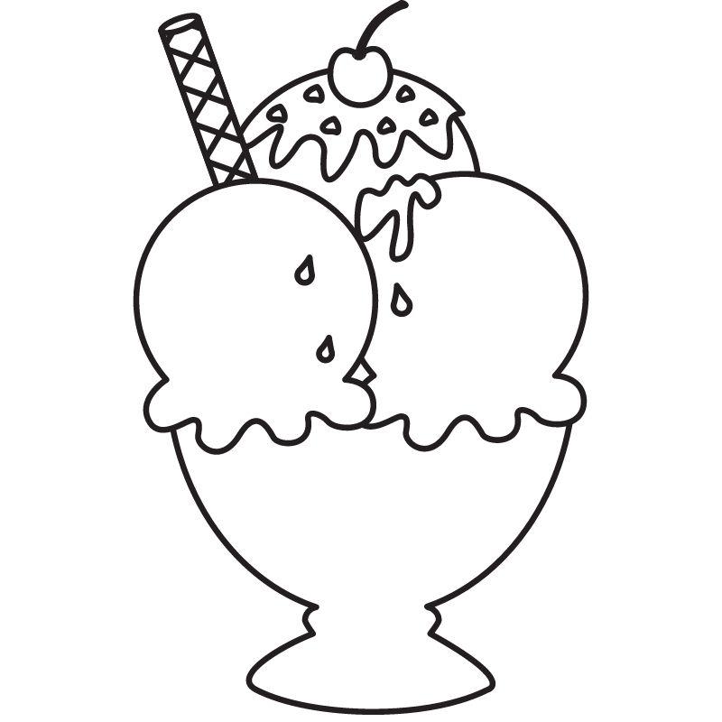 דף צביעה גביע גלידה