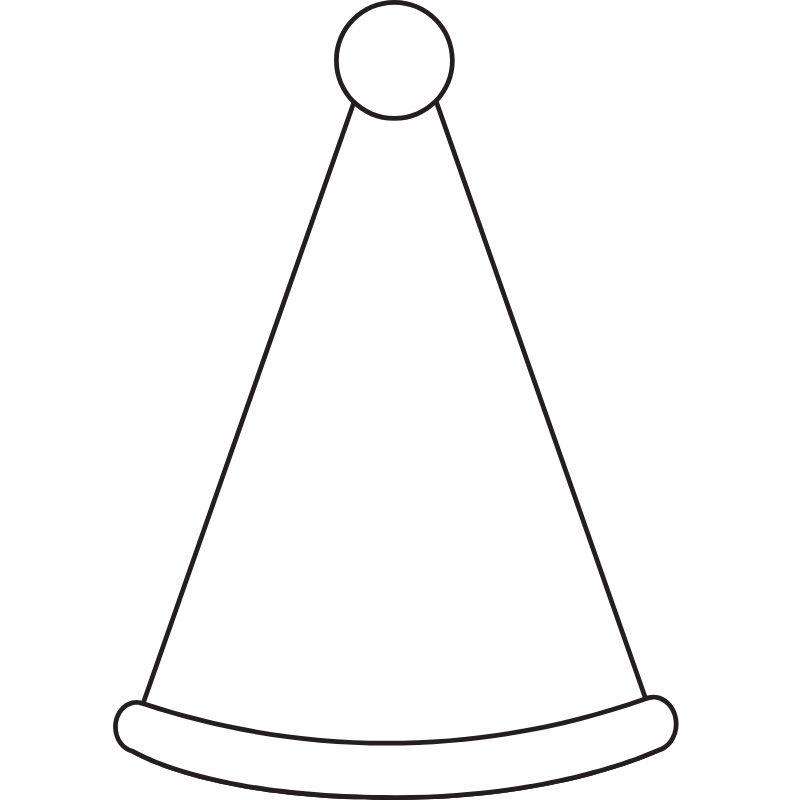 דף צביעה כובע ליצן