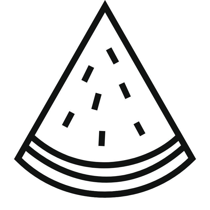 דף צביעה פלח אבטיח